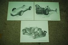 Levi Strauss Pencil Sketch Collection Print Sling Shot Hot Rod Car Sharon Rotsch
