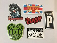 British Rock Bands Sticker - Radiohead, Iron Maiden, Muse, depeche Mode + More