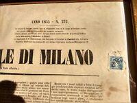 Lombardo veneto 3c. II tipo su giornale del 1855