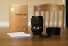 Nikon AF-S Micro NIKKOR 60mm f/2.8G ED Lens in Mint Condition plus B+W UV filter