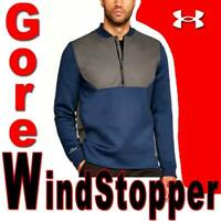 MENS UNDER ARMOUR UNSTOPPABLE GORE WINDSTOPPER 1/2 ZIP WIND PROOF JACKET MEDIUM