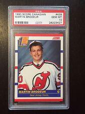 1990 Score Canadian Martin Brodeur #439 Rookie RC PSA 10