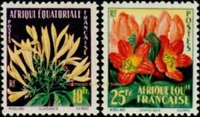 EBS French Equatorial Africa 1958 Flora FR-EQ 243-244 MNH**