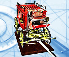 """1/8 SCALE OVERLAND MODEL 21"""" STAGE COACH  FULL SIZE PRINTED PLAN & Build Notes"""