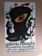 1974 Joan Miro - Galeria Maeght - Barcelona