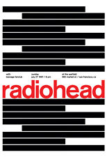 Radiohead Concert Poster, At the Warfield, Market St, San Francisco, California