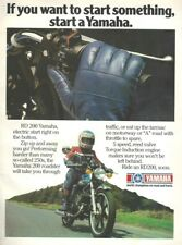 An A4 Motorcycle Magazine Advertisement - Yamaha RD200 2-Stroke Twin