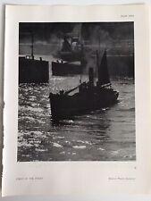 FIRST of the FLEET, ships, Docks, 1945 Vintage RP Print, Harold White, London