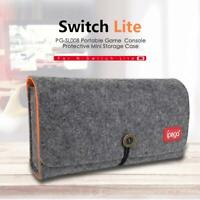 Storage Bag Felt Carrying Case for Nintendo Switch Lite Game Console w/Card Slot