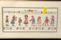 Vintage 1990 Dimensions Grandchildren Remembrance Cross Stitch Picture Kit 3690