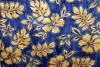 Royal Creations Men's Large L Hawaiian Aloha Shirt Hibiscus Flowers Floral