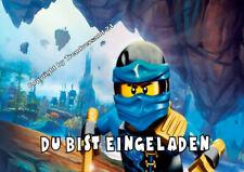12 Umschläge Kindergeburtstag T8 W Lego Ninjago Einladungskarten 12er Set
