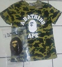 Men's-Bape A-Bathing-Ape 1st Green-Camo-Shirt-Rare-Shirt-Size XL
