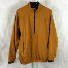 FJ FootJoy DryJoys Mens 1/2 Zip Golf Pullover Jacket Orange & Black Size M