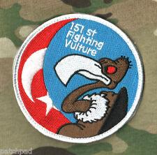 FIGHTING FALCON F-16 SWIRL velkrö SSI: TURKISH 151st SQN the fighting VULTURE