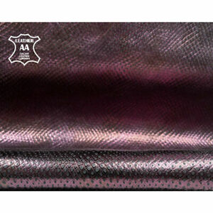 Metallic Purple Snakeskin Print Leather // The Size of A Hide From 4.5 - 6 sqft