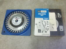 Craftsman 9-3218 9-3214 Molding Head Cutter Set & Carbide Adjustable Dado USA
