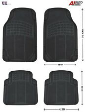 4 UNIVERSAL CAR VAN BUS FLOOR MAT MATS SET RUBBER NON-SLIP GRIP FRONT REAR