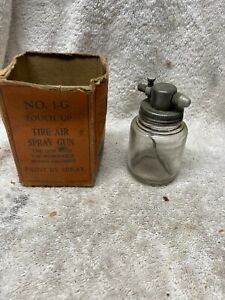 Vintage Tire air spray gun with removeable glass mixing chamber