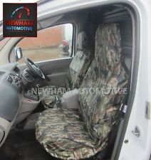 WATERPROOF GREEN CAMOUFLAGE CAR FRONT SEAT COVERS 1+1 FOR NISSAN NAVARA 4x4