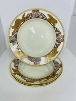 "Set Of 4 Fitz & Floyd 9"" Soup Bowl Salad Bowls ""Golden Heron"" China 1977 MINT"