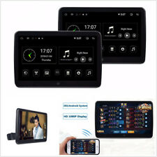 "2 X 12V 10.6"" Touch Screen HD Car Headrest Monitor Wifi Dual 4 Code Android 6.0"