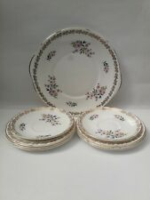 More details for royal grafton summer melody china teaset cake plate 6 sideplates 2 saucers mint