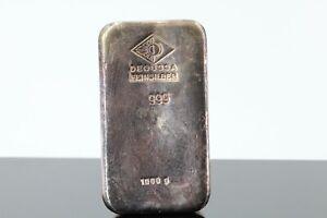 Silberbarren 1kg Degussa Feinsilber 999 Silberbarren 1000g 999,0 Fine Silver #B5