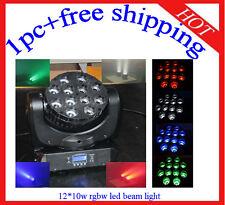 1pc Hotsale 12*10W RGBW Led Beam Moving Head Light Wash DJ Light Free Shipping