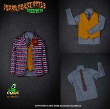 1/6 Joker Clown Suit Clothes Costume Model Shirt Vest Pants Model F Action Figur