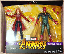 Marvel Legends Hasbro Avengers Infinity War Scarlet Witch & Vision 2 Pack MISB