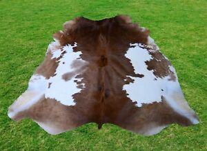Large Cowhide Rug -Animal Skin Rug Skin Rug Cowhide Carpet Leather Rug 6.1 x 6.1