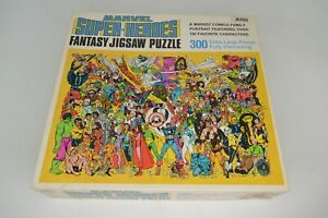 Marvel Super Heroes 300 Piece Fantasy Jigsaw Puzzle 1983 1988 Complete COUNTED!