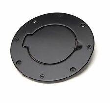 Rampage Billet Style Non-Locking Fuel Door Cover Black for 07-18 Wrangler JK JKU