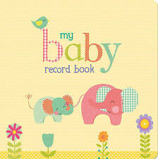 NEW My Baby Record Book Yellow with Elephants Hardcover Free Shipping