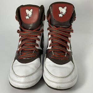 Nike Greco Supreme Wrestling Shoes 316552-113 Brown&White Size 8