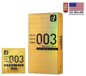 Okamoto 003 Zero Zero Three Real Fit Ultra Thin 0.03 mm Condom 10pcs(US Seller)
