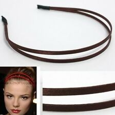 CELEBRITY DOUBLE HAIR HEADBAND GOSSIP GIRL BROWN HB1050