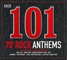 101 70s Rock Anthems by Various Artists (CD, May-2017, 5 Discs, Universal)