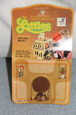 1980 Mattel THE LITTLES Die Cast Metal TILT TOP TABLE  New NRFB