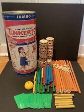 Tinker Toys Jumbo Classic Building Set Vintage 2000 87 Pieces