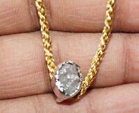 1.75 ct Natural Diamond Gray Rough raw Diamond Pendant .925 Silver pendent #01