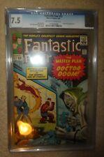 Marvel Comics Fantastic four CGC 23 7.5 Dr Doom silver age