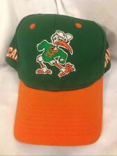 Vintage Miami Hurricanes 'CANES Ibis Green Snapback Hat Cap By Twins Ent.