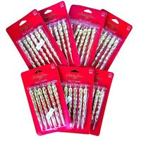 Christmas Ornaments Gold Icicles Lot Of 7 Packages Gold Plastic 42 Total Icicles