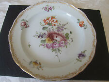 Meissen Porcelain Plate c1800's. Floral and Gilt decoration. Stunning condition.