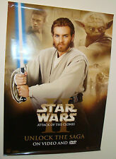 2002 STAR WARS Episode 2  obi wan kenobi poster 100 x 70cm FILM MOVIE Original