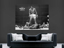 MUHAMMED ALI SONNY LISTON BOXING ART GIANT WALL POSTER  PICTURE PRINT LARGE