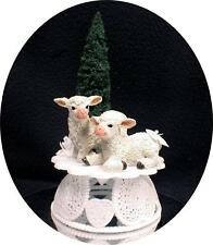Cute Lamb Sheep Wedding Cake Topper Top  Country Western Barn Red Neck evergreen