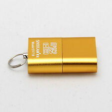 Gold High Speed Nice Mini USB 2.0 Micro SD TF T-Flash Memory Card Reader Adapter